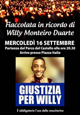 Fiaccolata per Williy